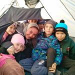 Дети воскресной группы провели занятие на природе